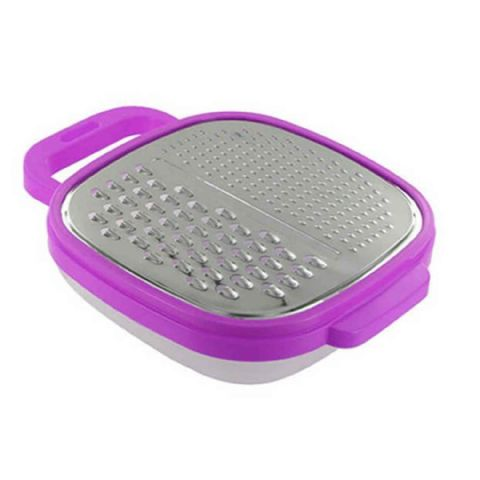 Cheese Box Grater & Storage Container - Purple